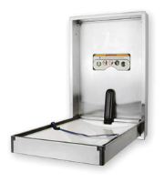 Full Stainless Steel Baby Changing Table Vertical Opening