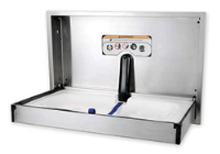 Full Stainless Steel Baby Changing Table Horizontal Opening