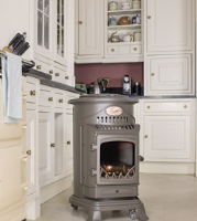 Provence Flame Effect Mobile Heaters - Honey Glow Brown Portslade