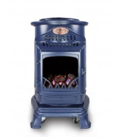 Provence Flame Effect Mobile Heaters - Atlantic Blue Liphook