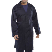 Warehouse Coat Poly Cotton Navy PCWCN
