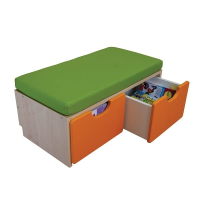2 Cubby Seating Unit