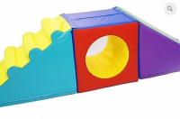 Soft Play Set – Steps, Slide and Cube Tunnel