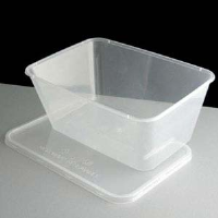Microwave Safe Container Rectangular Clear 1000cc Per Box 250