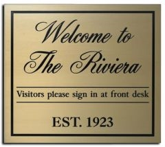 Supplier Of Brass Plaques