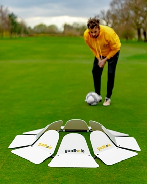 Footgolf Set Of 9 Underground Cups and Flags