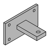 Plate and Rear Bracket for FAAC 400 Series