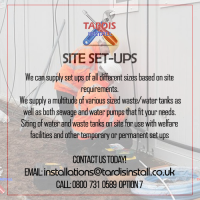 Installers Of Sewage And Water Pump On Construction Sites