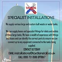 Specialist Installations For Large Water Tanks In Leicestershire