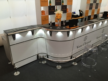Curved Bars Hire For Events