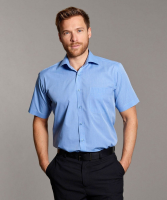 Disley Mens End on End Shirt with Cutaway Collar