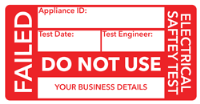 Do Not Use PAT Testing Labels