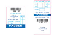Small Electrical Safety Test Labels
