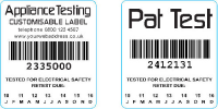 Customisable PAT Testing Labels In Blackpool