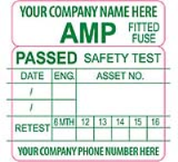 Safety Test PAT Numbered Labels