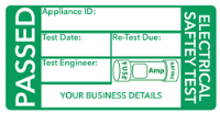 Electrical Safety Test Pass Labels In Blackburn