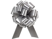 Pull Bows - 50mm - SILVER (pk 30)