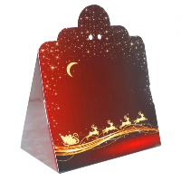 Triangle Gift Box (pk 10 Small) - REINDEER