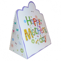 Triangle Gift Box (pk 10 Large) - MOTHER'S DAY WHITE