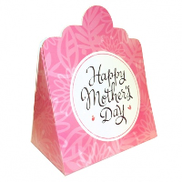 Triangle Gift Box (pk 10 Large) - MOTHER'S DAY PINK FLOWERS