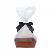 10 x MINI Gift Kits with Cello Bag & Bow 12x8x4cm - WOODEN CRATE TRAYS/BLACK BOWS