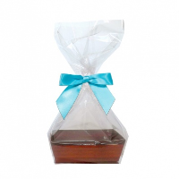 10 x MINI Gift Kits with Cello Bag & Bow 12x8x4cm - WOODEN CRATE TRAYS/BLUE BOWS