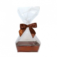 10 x MINI Gift Kits with Cello Bag & Bow 12x8x4cm - WOODEN CRATE TRAYS/BROWN BOWS