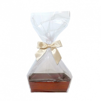 10 x MINI Gift Kits with Cello Bag & Bow 12x8x4cm - WOODEN CRATE TRAYS/CREAM BOWS