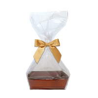 10 x MINI Gift Kits with Cello Bag & Bow 12x8x4cm - WOODEN CRATE TRAYS/GOLD BOWS