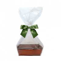 10 x MINI Gift Kits with Cello Bag & Bow 12x8x4cm - WOODEN CRATE TRAYS/GREEN BOWS