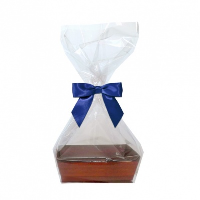 10 x MINI Gift Kits with Cello Bag & Bow 12x8x4cm - WOODEN CRATE TRAYS/NAVY BOWS