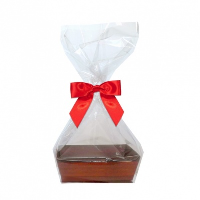 10 x MINI Gift Kits with Cello Bag & Bow 12x8x4cm - WOODEN CRATE TRAYS/RED BOWS