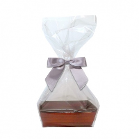 10 x MINI Gift Kits with Cello Bag & Bow 12x8x4cm - WOODEN CRATE TRAYS/SILVER BOWS