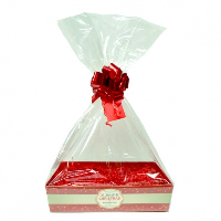 Complete Gift Basket Kit - (Small) MERRY CHRISTMAS TRAY / RED ACCESSORIES