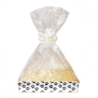 Complete Gift Basket Kit - (Small) PAW PRINTS TRAY / CREAM ACCESSORIES