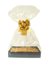 Complete Gift Basket Kit - (Small) BLACK EASY FOLD TRAY/GOLD ACCESSORIES