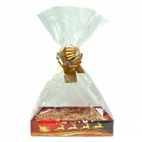 Complete Gift Basket Kit - (Small) REINDEER EASY FOLD TRAY/GOLD ACCESSORIES