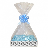 Complete Gift Basket Kit - (Small) PAW PRINTS EASY FOLD TRAY/BLUE ACCESSORIES