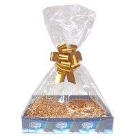 BULK Gift Basket Kit - (Small) CHRISTMAS TREE EASY FOLD TRAY / GOLD ACCESSORIES x10