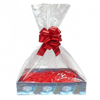 Complete Gift Basket Kit - (Small) CHRISTMAS TREE EASY FOLD TRAY/RED ACCESSORIES