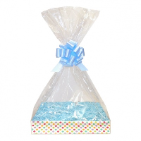 Complete Gift Basket Kit - (Medium) SPOTTY EASY FOLD TRAY / BLUE ACCESSORIES