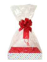 Complete Gift Basket Kit - (Medium) SPOTTY EASY FOLD TRAY / RED ACCESSORIES