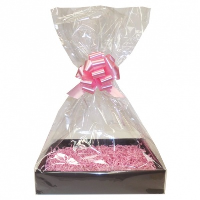 Complete Gift Basket Kit - (Large) BLACK EASY FOLD TRAY / PINK ACCESSORIES