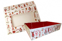 10 x Easy Fold Trays with Sleeves - (35x24x8cm) LARGE CHRISTMAS CHARACTER TRAYS/CHRISTMAS CHARACTER SLEEVES
