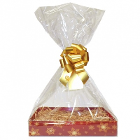 BULK Gift Basket Kit - (Large) SNOWFLAKES EASY FOLD TRAY / GOLD ACCESSORIES x10