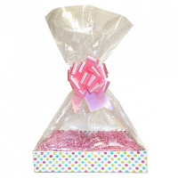 Complete Gift Basket Kit - (Large) SPOTTY EASY FOLD TRAY / PINK ACCESSORIES