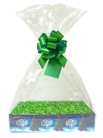 Complete Gift Basket Kit - (Large) CHRISTMAS TREE EASY FOLD TRAY / GREEN ACCESSORIES
