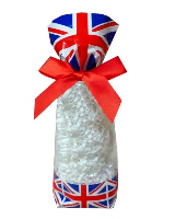 CANDY BAGS (pk 10) with Block Bottom and Twist Ties - UNION JACK (small)