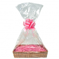 Gift Basket Accessory Kit - 36x25 - PINK SIZE C  [Basket not included]