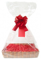 Gift Basket Accessory Kit - 36x25 - RED SIZE C  [Basket not included]